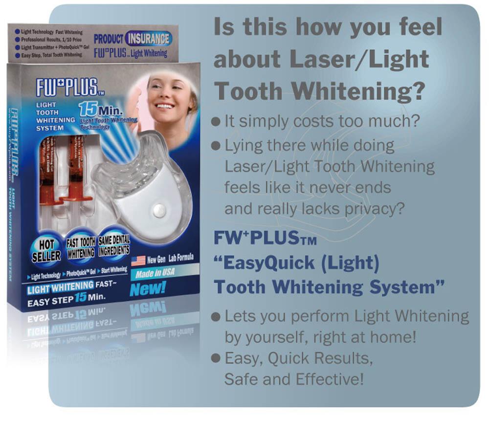 white light teeth whitening instructions
